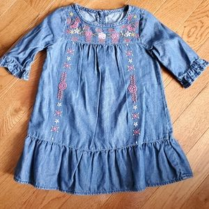 Crazy 8 denim dress 2t